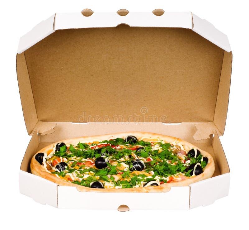 πίτσα χαρτοκιβωτίων κιβω&tau στοκ φωτογραφίες με δικαίωμα ελεύθερης χρήσης