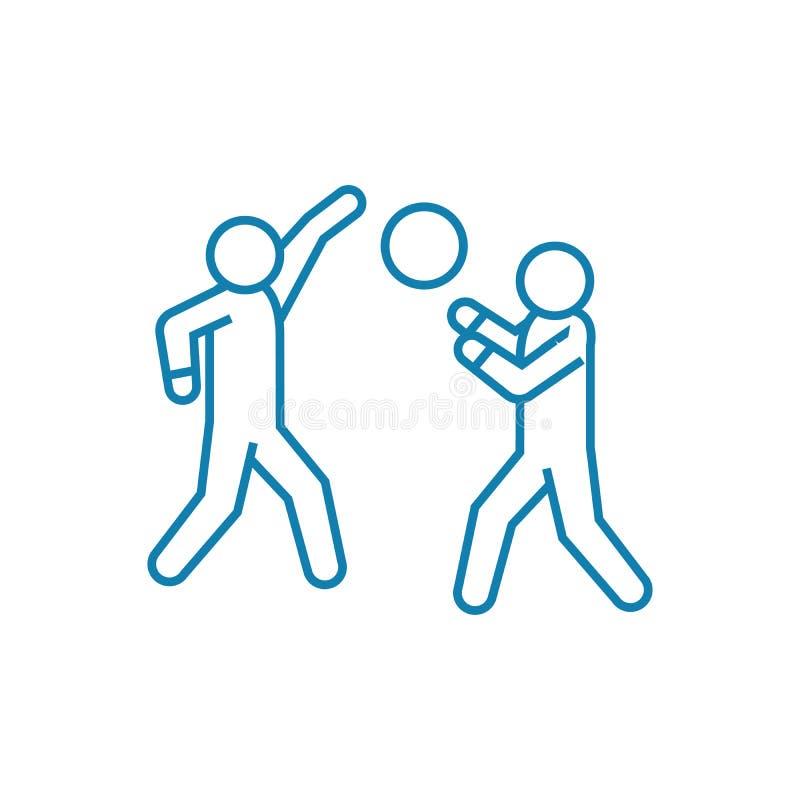 Παίζοντας έννοια εικονιδίων πετοσφαίρισης γραμμική Παίζοντας διανυσματικό σημάδι γραμμών πετοσφαίρισης, σύμβολο, απεικόνιση ελεύθερη απεικόνιση δικαιώματος