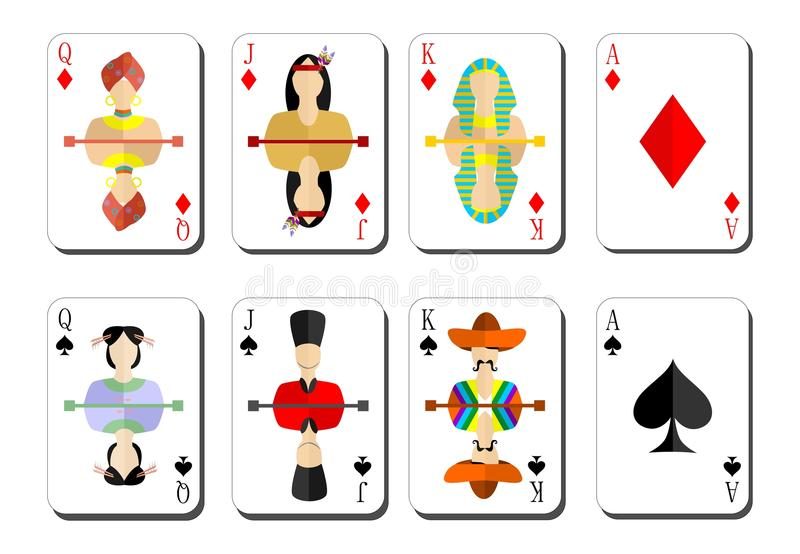 παίζοντας αιχμές bubi καρτών ελεύθερη απεικόνιση δικαιώματος