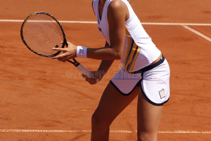 παίζοντας γυναίκα αντισφαίρισης στοκ εικόνα