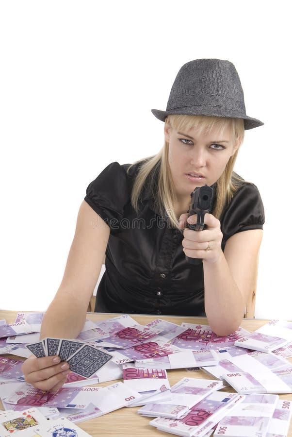 παίζοντας γυναίκα πόκερ χ&rh στοκ φωτογραφία με δικαίωμα ελεύθερης χρήσης