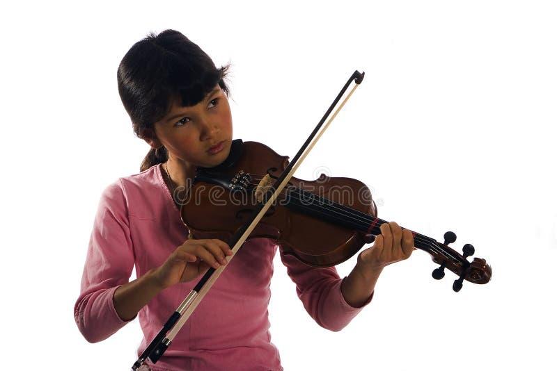 παίζοντας νεολαίες βιολιών κοριτσιών στοκ εικόνες