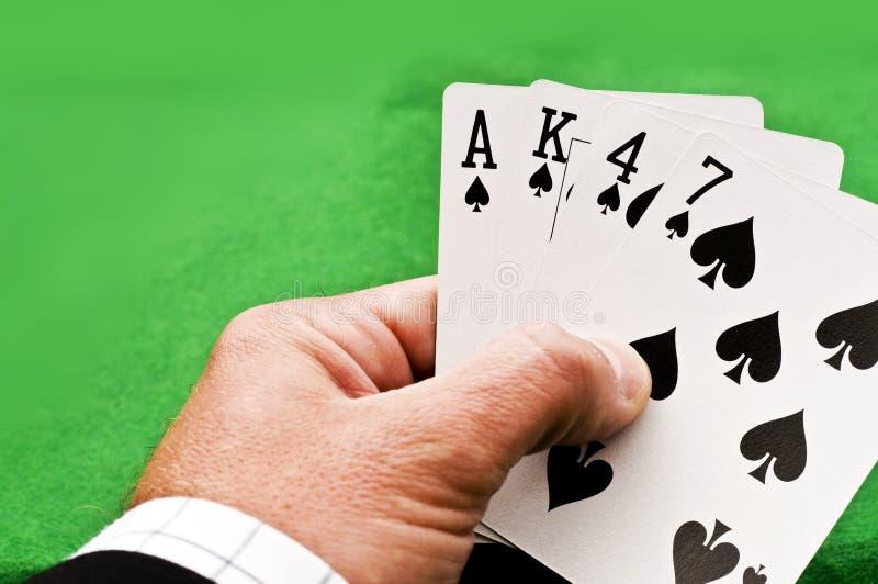 Παίζοντας παιχνίδι καρτών στοκ εικόνες με δικαίωμα ελεύθερης χρήσης