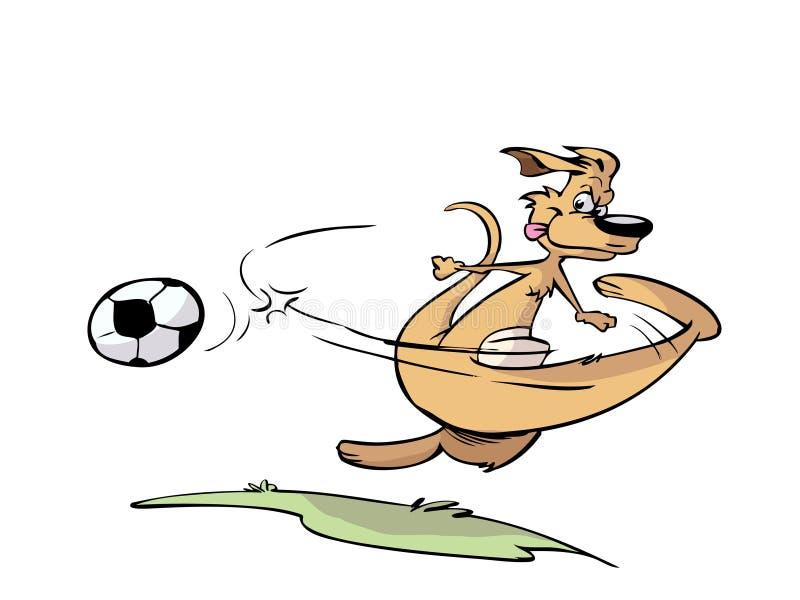 παίζοντας ποδόσφαιρο κα&ga διανυσματική απεικόνιση