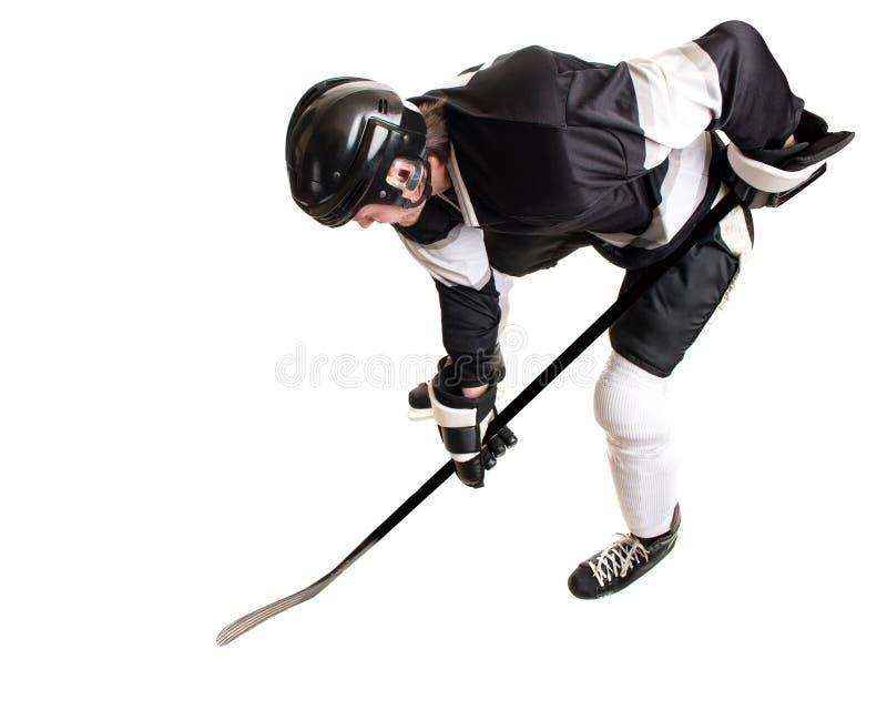 παίκτης απεικόνισης πάγου χόκεϋ σχεδίου εσείς στοκ εικόνα