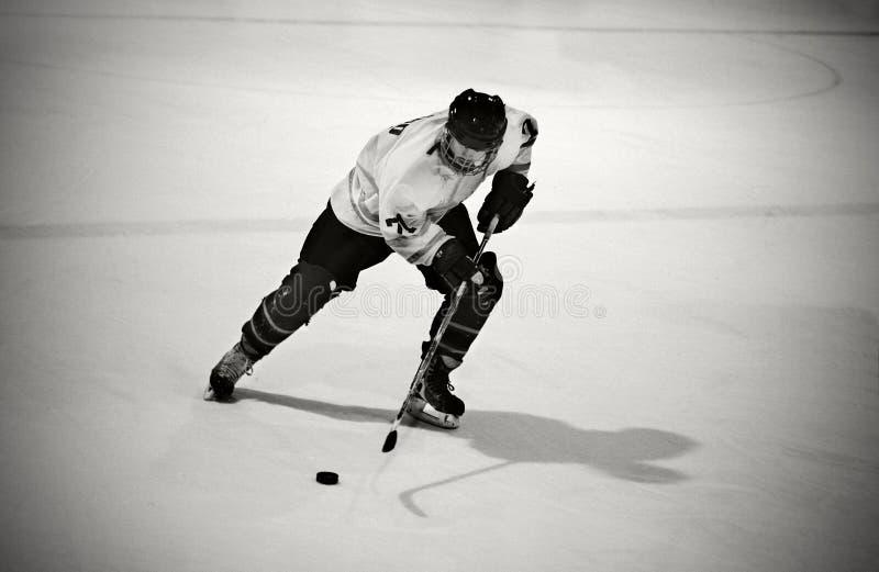παίκτης πάγου χόκεϋ στοκ φωτογραφία με δικαίωμα ελεύθερης χρήσης