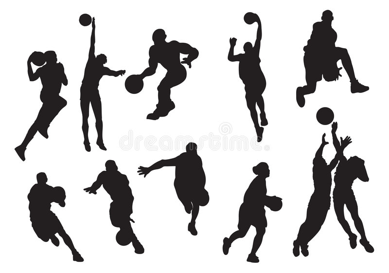 παίχτης μπάσκετ απεικόνιση αποθεμάτων