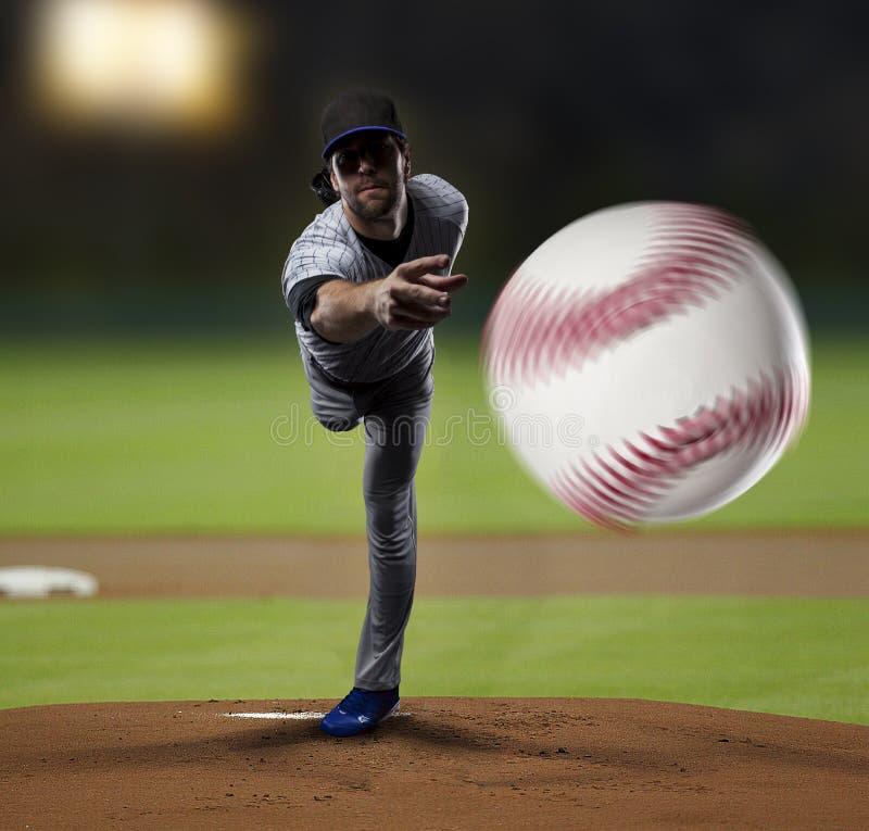 Παίχτης του μπέιζμπολ σταμνών στοκ φωτογραφίες