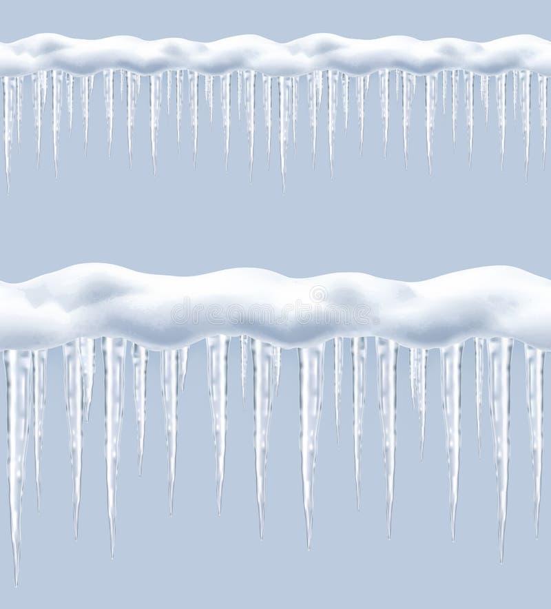 Παγάκια, άνευ ραφής διάνυσμα διανυσματική απεικόνιση