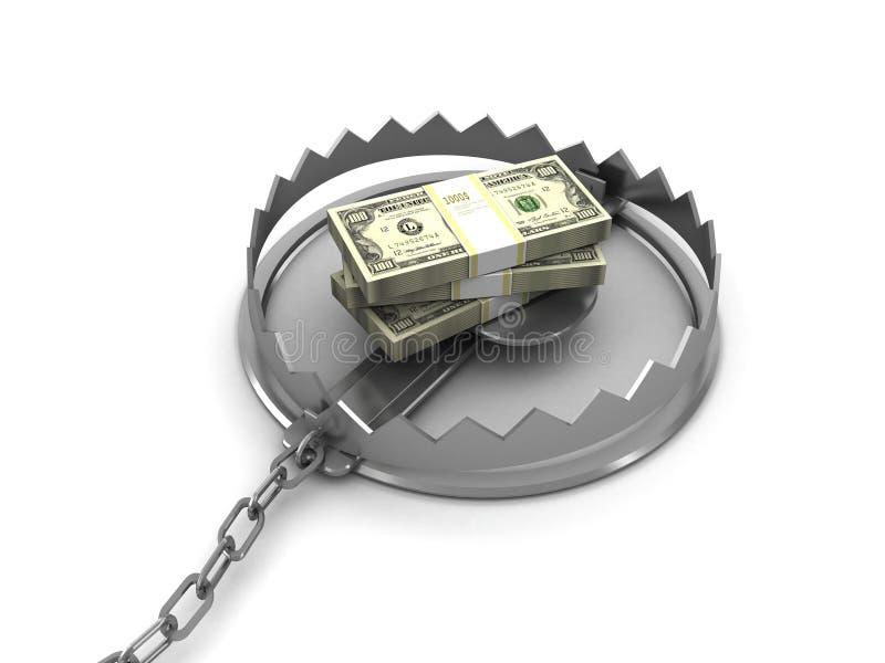 παγίδα χρημάτων διανυσματική απεικόνιση