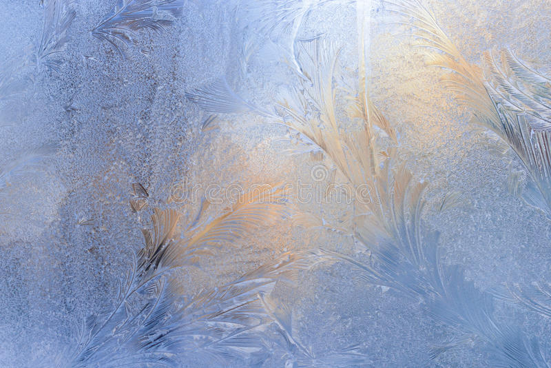 Παγετός ταπετσαριών στο γυαλί στοκ φωτογραφία με δικαίωμα ελεύθερης χρήσης