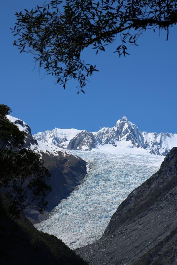 Παγετώνας αλεπούδων, Te Moeka ο Tuawe, Νέα Ζηλανδία στοκ εικόνες