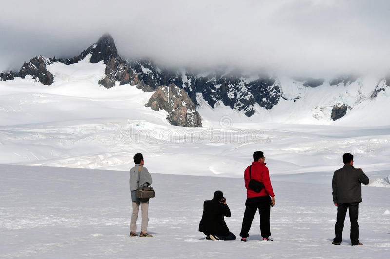 Παγετώνας αλεπούδων - Νέα Ζηλανδία στοκ φωτογραφία