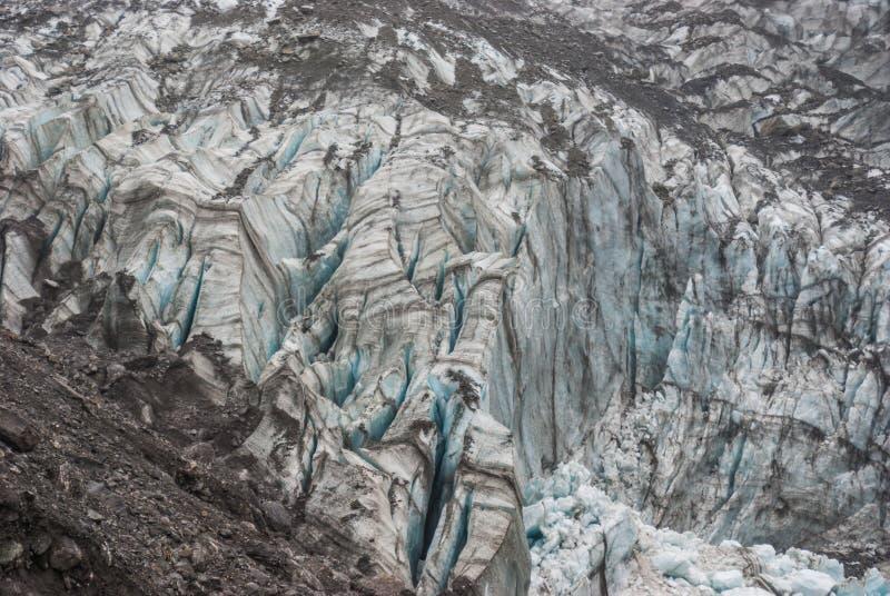 παγετώνας Νέα Ζηλανδία αλ&ep στοκ εικόνα