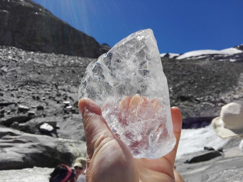 παγετώνας-πάγος υπό εξέταση στοκ εικόνες με δικαίωμα ελεύθερης χρήσης