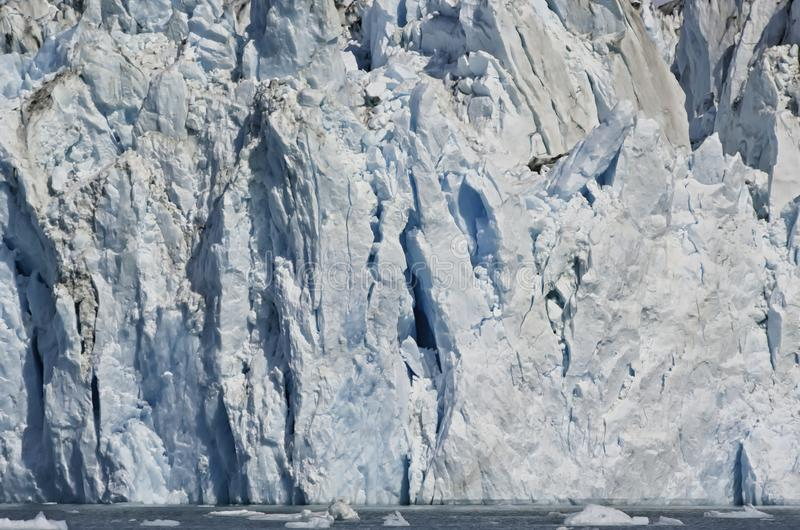 Παγετώνας στα από την Αλάσκα φιορδ στοκ εικόνα με δικαίωμα ελεύθερης χρήσης
