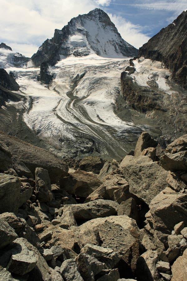 Παγετώνας στις ελβετικές Άλπεις στοκ φωτογραφίες με δικαίωμα ελεύθερης χρήσης