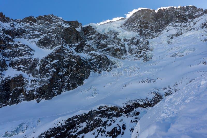 Παγετώνας στο σοβαρό Λα Meije Λα στοκ φωτογραφία με δικαίωμα ελεύθερης χρήσης