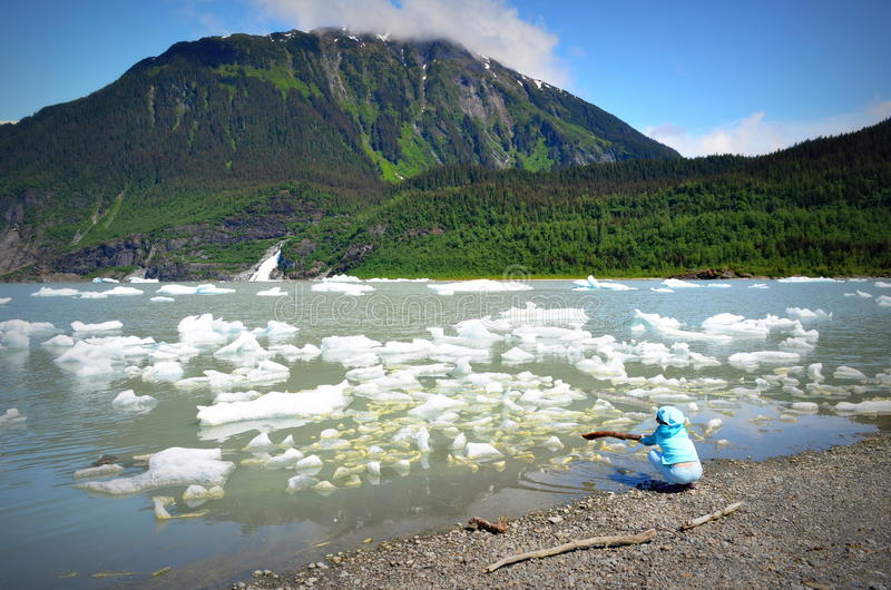 παγετώνας της Αλάσκας mendenhall στοκ εικόνα