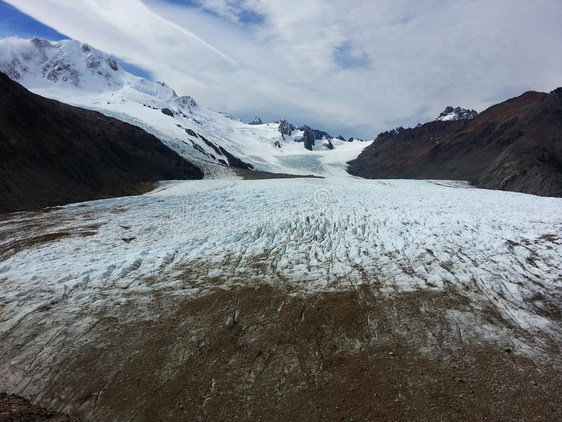 Παγετώνας του κυκλώματος Huemul στοκ εικόνα με δικαίωμα ελεύθερης χρήσης