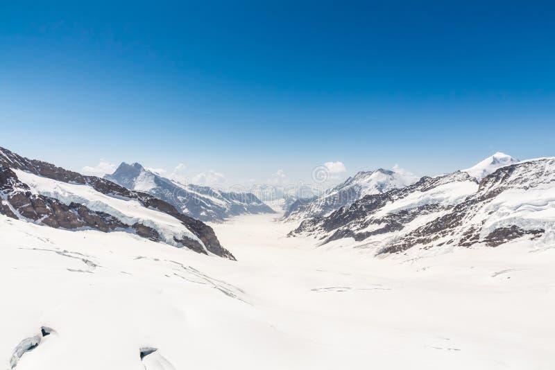 Παγετώνας Aletsch στο Jungfraujoch, ελβετικές Άλπεις, Ελβετία στοκ φωτογραφία με δικαίωμα ελεύθερης χρήσης