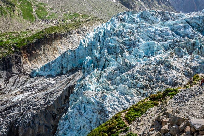 Παγετώνας Argentiere στις Άλπεις Chamonix, ορεινός όγκος της Mont Blanc, Γαλλία στοκ φωτογραφίες