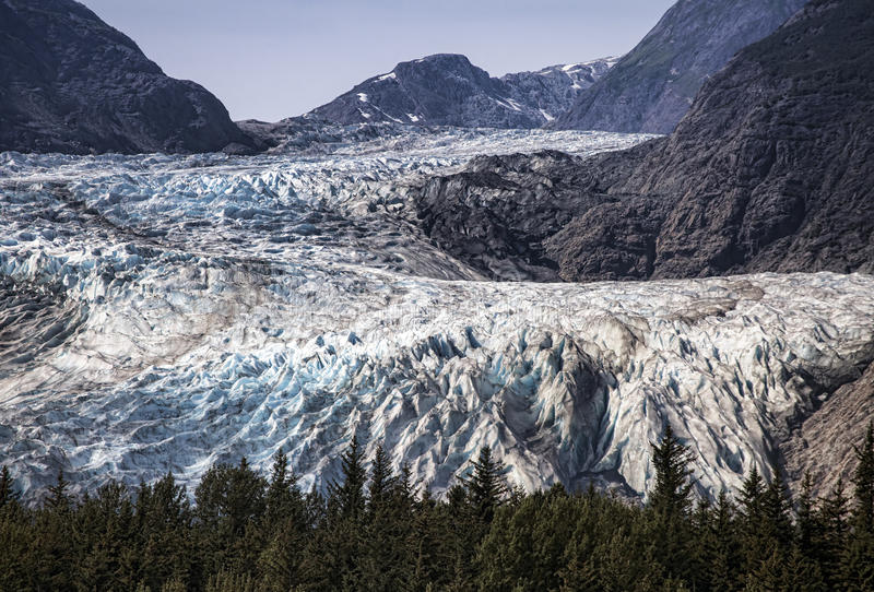Παγετώνας Davidson στην Αλάσκα στοκ εικόνες