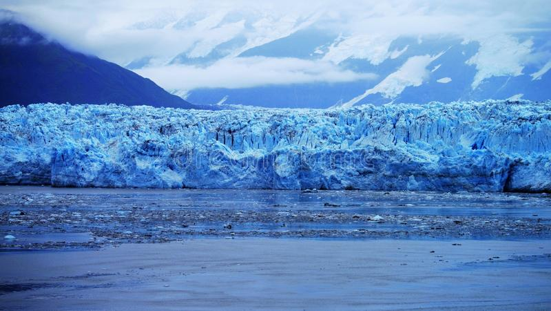 Παγετώνας Hubbard στην εσωτερική μετάβαση της Αλάσκας στοκ εικόνα