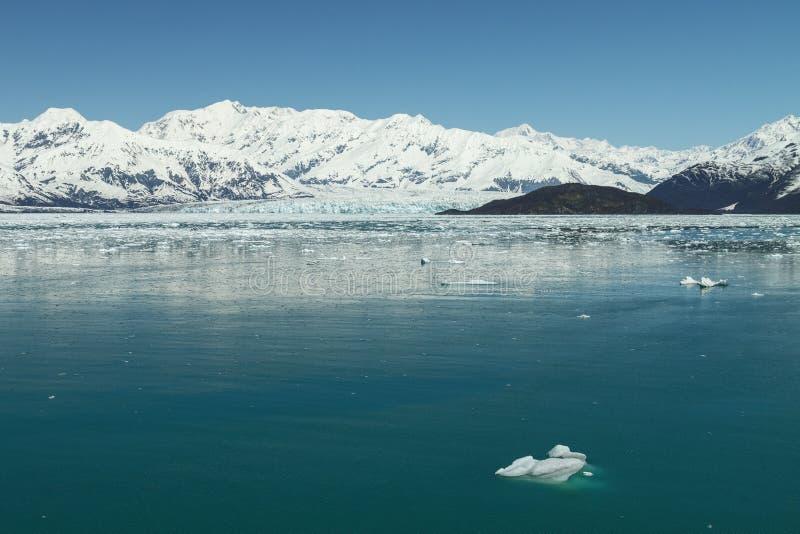 Παγετώνας Hubbard στον κόλπο Yakutat, Αλάσκα στοκ εικόνες