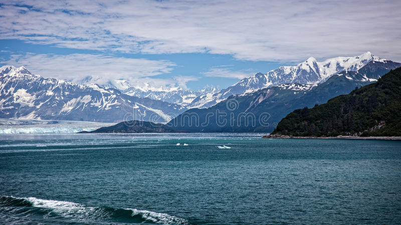 Παγετώνας Hubbard στοκ εικόνες