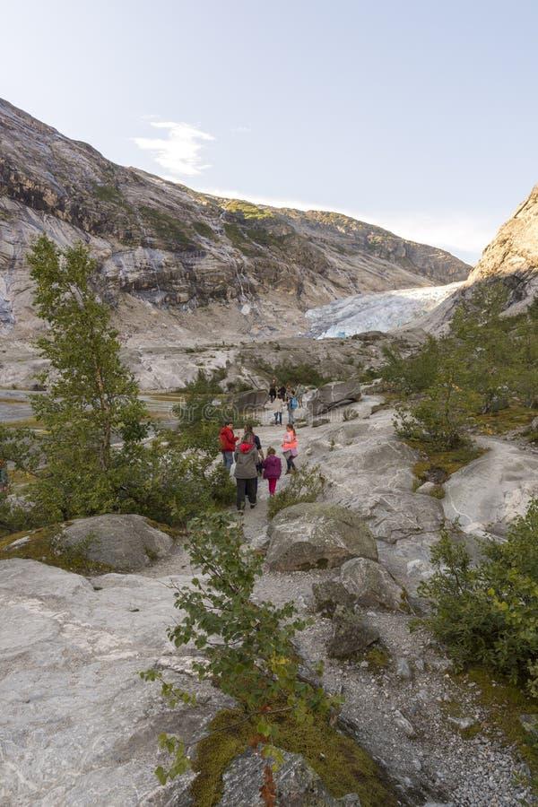 Παγετώνας Nigardsbreen σε Laerdal στοκ φωτογραφία με δικαίωμα ελεύθερης χρήσης