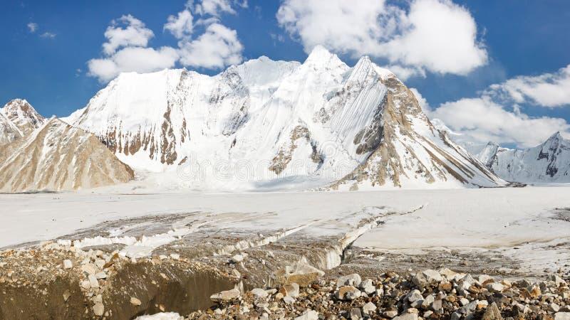 Παγετώνας Vigne, Karakorum, Πακιστάν στοκ εικόνες