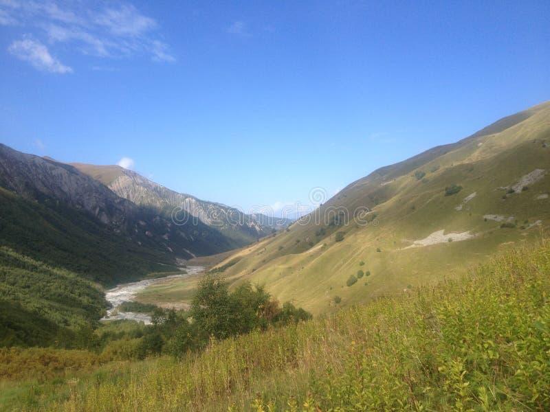 Παγετώδης ποταμός σε ανώτερο Svaneti στοκ εικόνα με δικαίωμα ελεύθερης χρήσης