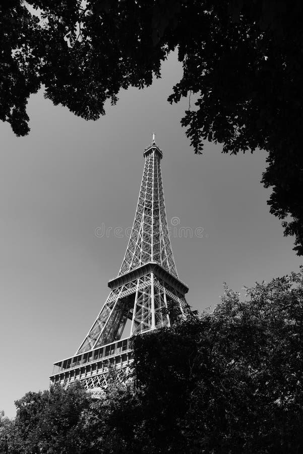 Παγκοσμίως διάσημος πύργος του Άιφελ στη γραπτή επίδραση στοκ φωτογραφία με δικαίωμα ελεύθερης χρήσης