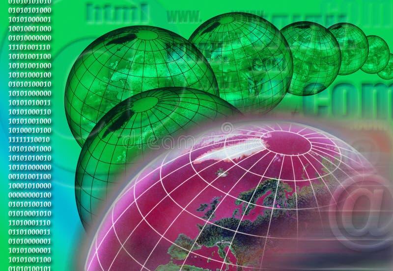 Παγκοσμίως - Διαδίκτυο - κυβερνοχώρος διανυσματική απεικόνιση