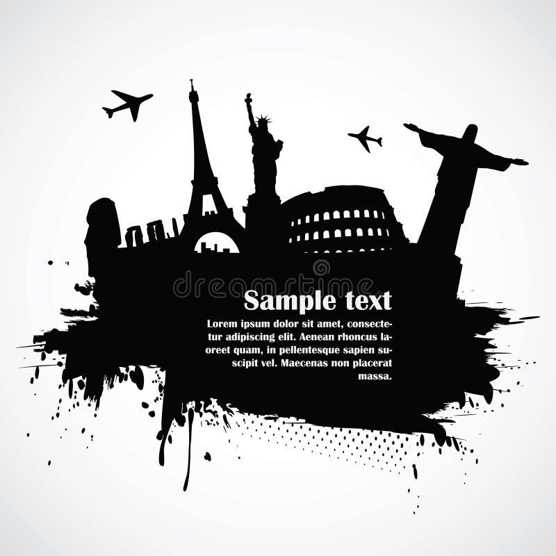 Παγκοσμίως διάσημα μνημεία διανυσματική απεικόνιση