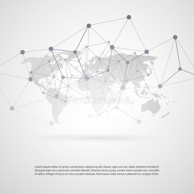 Παγκόσμια δίκτυα - απεικόνιση για την επιχείρησή σας διανυσματική απεικόνιση