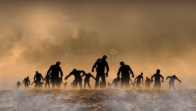 Παγκόσμια απεικόνιση Zombie ελεύθερη απεικόνιση δικαιώματος