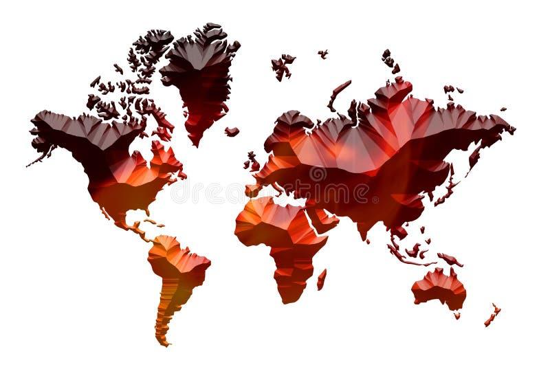 Παγκόσμια αύξηση της θερμοκρασίας λόγω του φαινομένου του θερμοκηπίου, μεγάλο παγκόσμιο πρόβλημα θερμότητας στοκ εικόνες με δικαίωμα ελεύθερης χρήσης