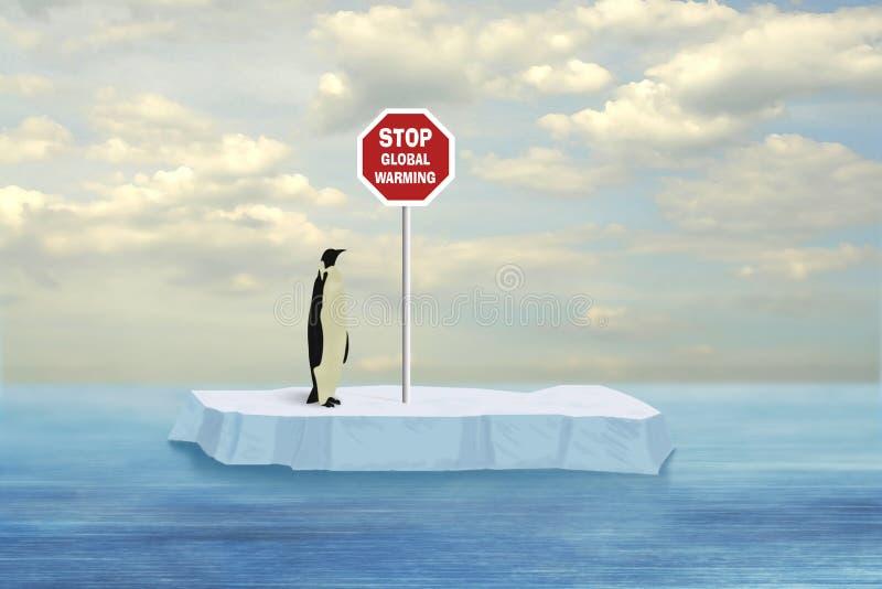 παγκόσμια αύξηση της θερμοκρασίας λόγω του φαινομένου του θερμοκηπίου στάσεων διανυσματική απεικόνιση