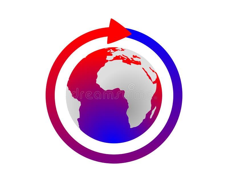 παγκόσμια αύξηση της θερμ&omic απεικόνιση αποθεμάτων