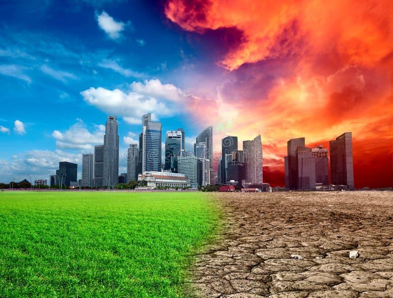 παγκόσμια αύξηση της θερμ&omic στοκ φωτογραφίες