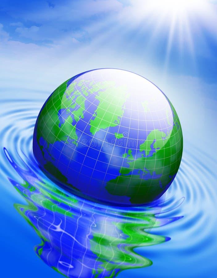 παγκόσμια αύξηση της θερμ&omic ελεύθερη απεικόνιση δικαιώματος