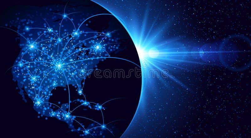 Παγκόσμια επικοινωνία ελεύθερη απεικόνιση δικαιώματος