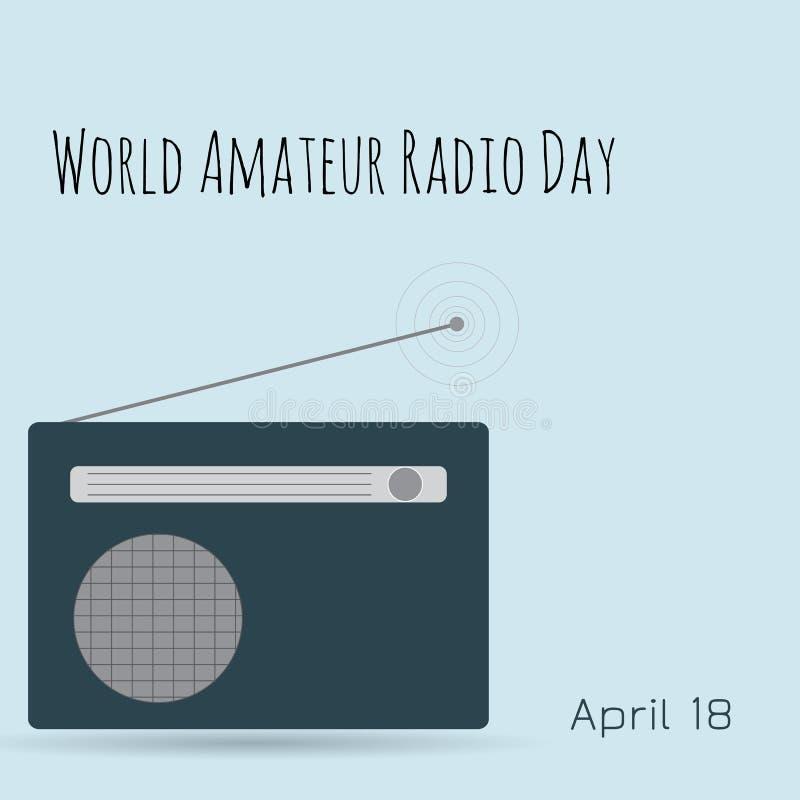 Παγκόσμια ερασιτεχνική ραδιο ημέρα πύργος του Βερολίνου ελεύθερη απεικόνιση δικαιώματος