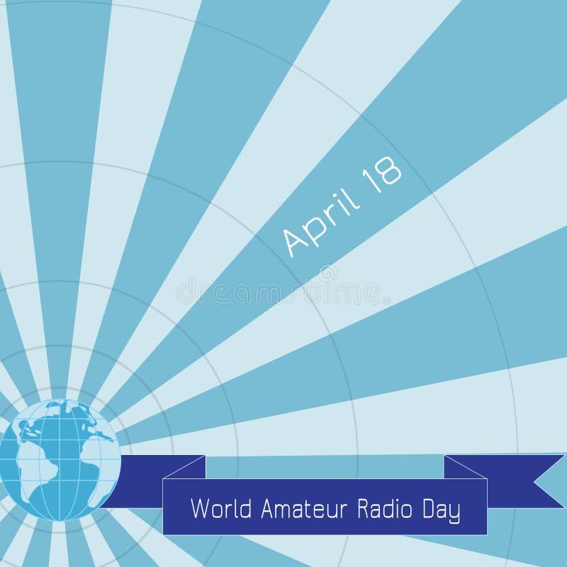 Παγκόσμια ερασιτεχνική ραδιο ημέρα διανυσματική απεικόνιση