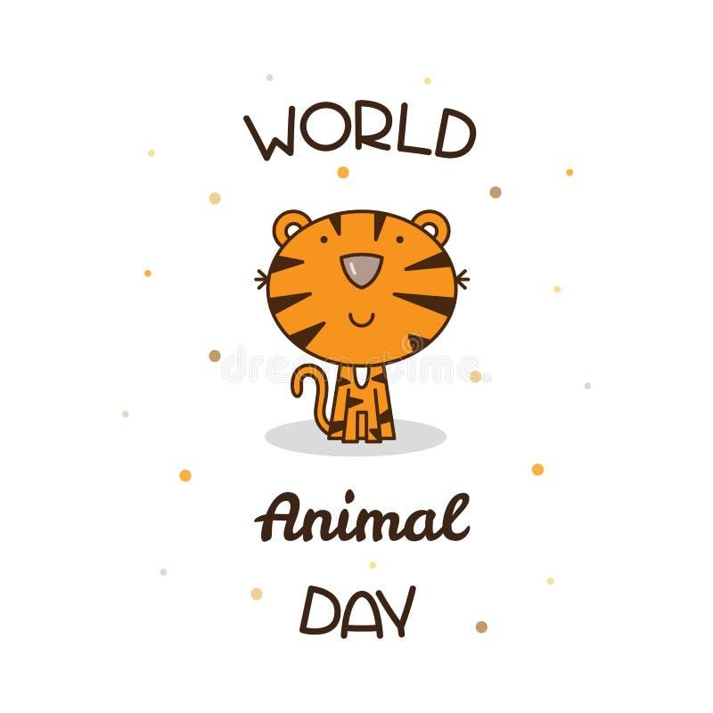 Παγκόσμια ζωική ημέρα επίσης corel σύρετε το διάνυσμα απεικόνισης διανυσματική απεικόνιση