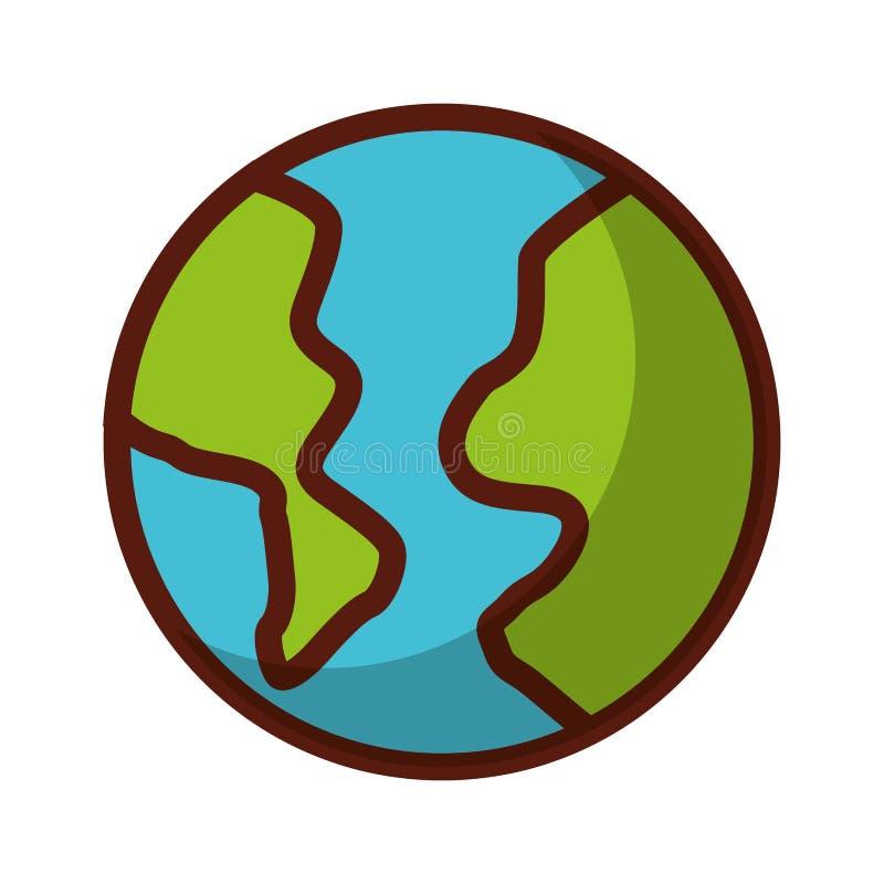 Παγκόσμια κινούμενα σχέδια σκιών διανυσματική απεικόνιση
