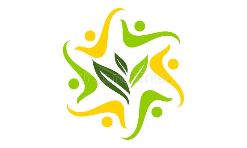 Παγκόσμια Κοινότητα λύσης οικολογίας διανυσματική απεικόνιση