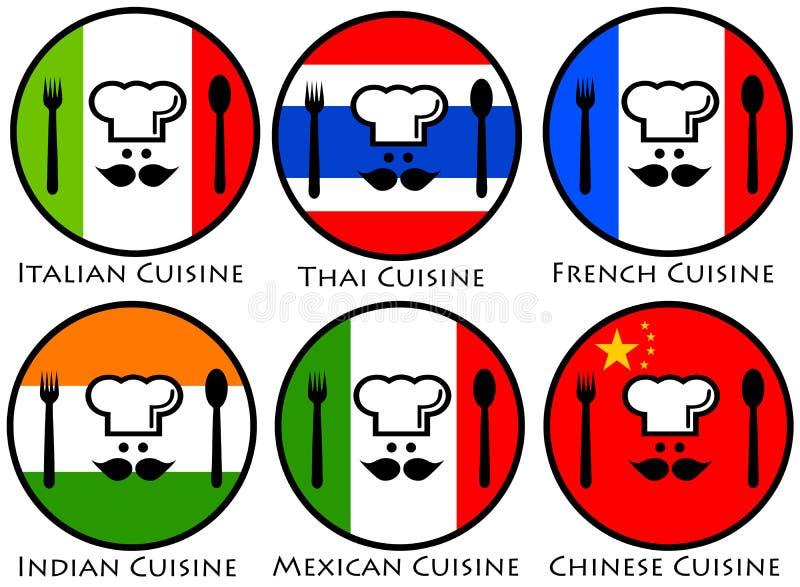 Παγκόσμια κουζίνα διανυσματική απεικόνιση